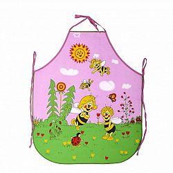 Forbyt Detská zástera Včielky ružová, 50 x 64 cm
