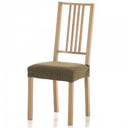 Forbyt Multielastický poťah na sedák na stoličku Petra gold, 40 - 50 cm, sada 2 ks