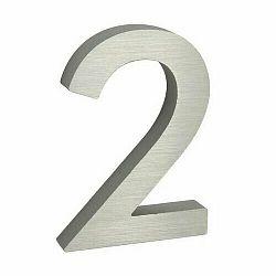 Hliníkové číslo 2 3D brúsený povrch RN.100LV.2.AL.3D