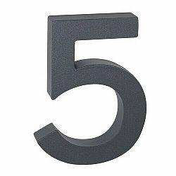 Hliníkové číslo 5 3D štruktúrovaný povrch RN.100LV.5.AL.AM.3D