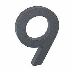 Hliníkové číslo 9 3D štruktúrovaný povrch RN.100LV.9.AL.AM.3D