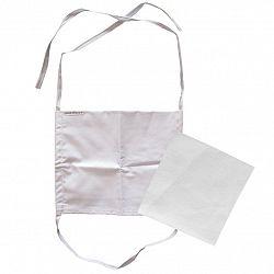 JAHU Ústne bavlnené rúško s vreckom na filter a šnúrkami na zaviazanie + 1x NANO filter