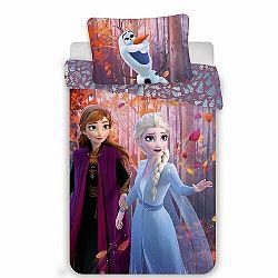 Jerry Fabrics Detské bavlnené obliečky Frozen 2 Sister purple, 140 x 200 cm, 70 x 90 cm