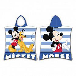Jerry Fabrics Detské pončo Mickey stripe, 50 x 115 cm