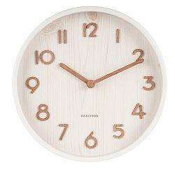 Karlsson 5808WH Dizajnové nástenné hodiny pr. 22 cm
