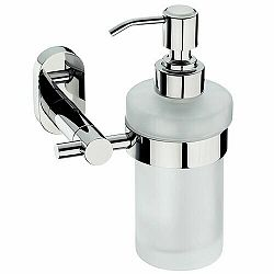 Kela Nerezový nástenný dávkovač mydla s držiakom Lucido 250 ml