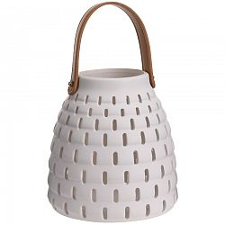 Keramický lampáš Karima, biela
