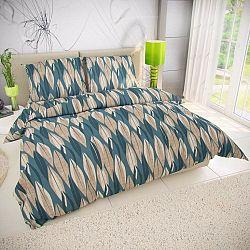 Kvalitex Bavlnené obliečky Kiara zelená, 140 x 200 cm, 70 x 90 cm