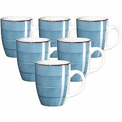 Mäser Sada keramických hrnčekov Bel Tempo 380 ml, 6 ks, modrá
