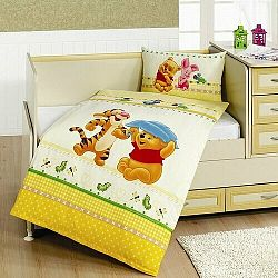 Matějovský Bavlnené obliečky Deluxe Prasiatko žltá, 100 x 135 cm, 40 x 60 cm