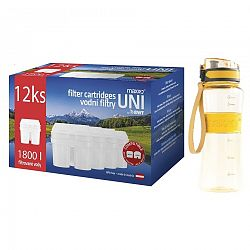 Maxxo Výhodná sada UNI vodné filtre 12 ks + športová fľaša