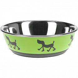 Miska pre psa Doggie treat zelená, pr. 17,5 cm
