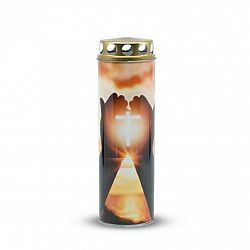 Náhrobná sviečka Kríž, 6 x 21 cm, 225 g