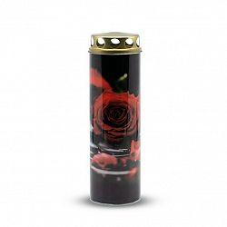 Náhrobná sviečka Ruža červená, 6 x 21 cm, 225 g