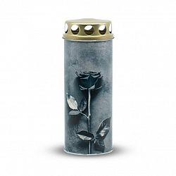 Náhrobná sviečka Ruža sivá, 6 x 16,5 cm, 195 g