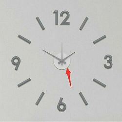 Nástenné nalepovacie hodiny Galant 60 cm, sivá