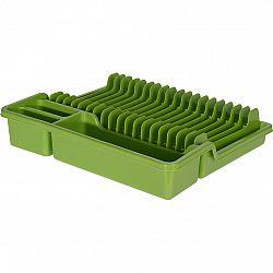 Odkvapkávač na riad, 37 x 30 x 6,8 cm, zelená