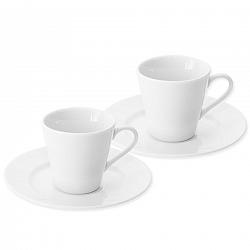 Orion Porcelánová šálka s podšálkou Espresso, 90 ml, 2 ks