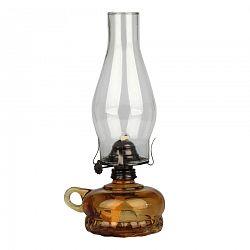 Petrolejová lampa, hnedá