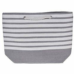 Plážová taška Stripes 52 x 38 cm, sivá