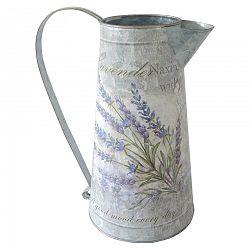 Plechová kanvička Lavender, 15 x 27 cm