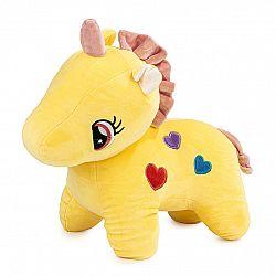 Plyšová hračka Jednorožec žltá, 40 cm