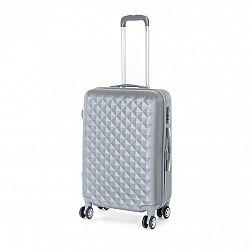 Pretty UP Cestovný škrupinový kufor ABS21 M, sivá