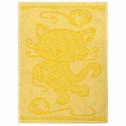 Profod Detský uterák Cat yellow, 30 x 50 cm