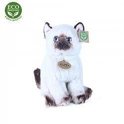 RAPPA Plyšová mačka siamská sediaci, 25 cm, ECO-FRIENDLY