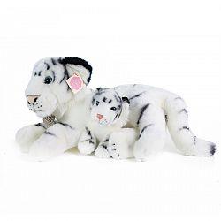 Rappa Plyšový biely tiger s mláďaťom, 38 cm