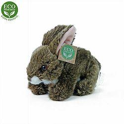 RAPPA Plyšový králik hnedý ležiaci, 17 cm, ECO-FRIENDLY