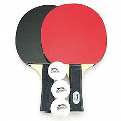 Sada stolní tenis/ping pong dřevěná 24cm s míčky v pouzdře
