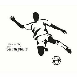 Samolepiaca dekorácia Futbalista čierny