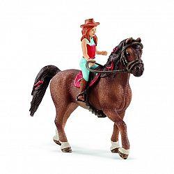 Schleich 42411 jazdkyňa na koni Hannah & Cayenne