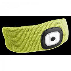 Sixtol Čelenka s čelovkou 45 lm, USB, uni, žltá
