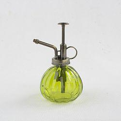 Sklenený rozprašovač zelená, 15 cm