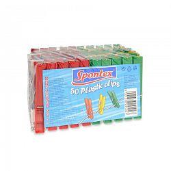 Spontex Štipce na bielizeň plastové, 50 ks
