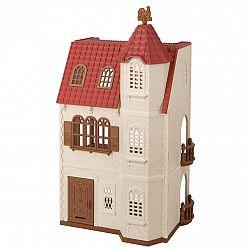 Sylvanian families 5400 dom s vežou a červenou střechou