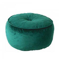 Temp Kondela Látkový taburet Kerem, smaragdová