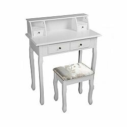 Tempo Kondela Toalený stolík/toaletka, biela, RODES NEW