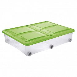 Tontarelli STOCKBOX 61L s vekom, kolieska transparent / zelená