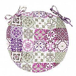 Trade Concept Sedák Pink Tiles prešívaný okrúhly, 40 cm