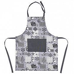 Trade Concept Vianočná kuchynská zástera Patchwork sivá, 60 x 80 cm