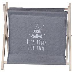Úložný košík Child's dream sivá, 32 x 30 cm
