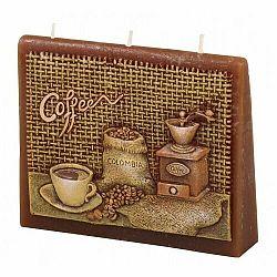 Vonná sviečka Káva obálka, 13 x 11 x 4 cm