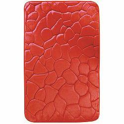 VOPI Kúpeľňová predložka s pamäťovou penou Kamene červená, 50 x 80 cm