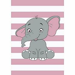 Vopi Kusový detský koberec Kiddo 1087 pink, 120 x 170 cm