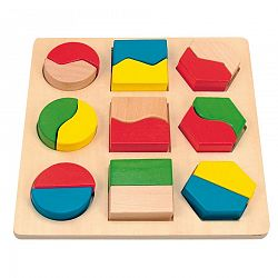 Woody Doštička s geometrickými tvarmi