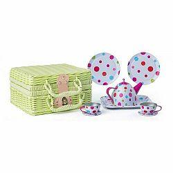 Woody Piknik košík s čajovou soupravou, 8 ks