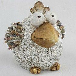 Záhradná dekorácia Vtáčik s kamienkami, 32 x 23,5 x 22 cm